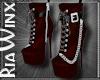 Crimson Leather Boots