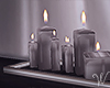 Silver Floor Candles
