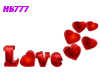 HB777 Love and Hearts