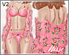 n  Floral Layerable Pink