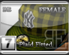 [BE]YellowPlaid|Fitted F