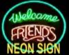 (J) Neon Friends Sign