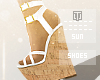 ☀White Summer Sandals