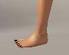 Small Flat Feet BlkNails