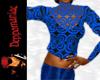 Martina Retro Top BLUE