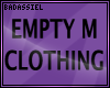 `B Empty Clothing M DRV
