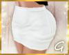 G- Short White Skirt