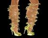 {LA} Gold chain shoes
