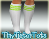 Green N White Tube Socks