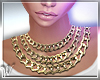 *W* Gold Chains Necklace