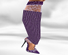 *AL* Purple Lace Heel