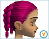 Dbl French Braid: Pink