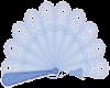Sticker Blue Fan
