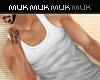 {J} Muscled Tank | White