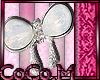 ^CM^ Silver Bow Sticker