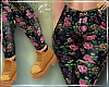 Floral Jeggings.