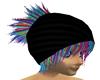 Beanie with Rainbow Hair