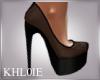 K black mesh heels