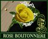 Boutonniere Rose Yellow