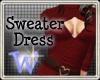 *W* Sweater Dress Red