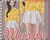 M|Waist Skirt White