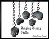 Hanging Bloody Skulls