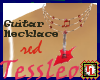 Guitar Necklace Red
