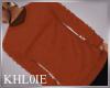 K burnt orange sweater