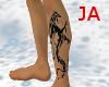JA|Tribal Dragon leg tat