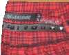 Plaid red skirt w/belt