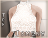 [Is] Lace Top White