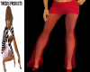 (T) Sheer Red Pants