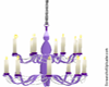 Purple Weddin Chandelier