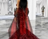Black & Red Shawl