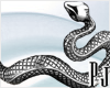 Siver Snake Sticker