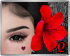 Hair Flower Red (L)