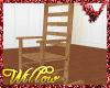 WF>Red Oak Rocking Chair