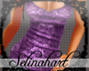 *S* Sequined Purple Tank
