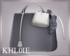 K cty chic grey anim bag