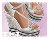 Sandal Wedges Grey