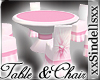 *Pink* Table & Chairs