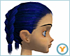 Dbl French Braid: Blue