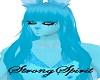 Aqua Blue Furry Hair