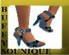 BSO Blue Flowered Heels