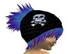 Skull Beanie Blue Hair