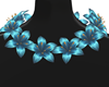 (WW)BLUE LILY NECKLACE