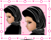 ! Silk Black Scarf Hijab