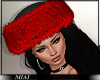 !M! Nicola fur hat red
