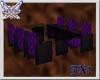 ~J~ black purple dining
