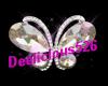 Glass butterfly n sparkl